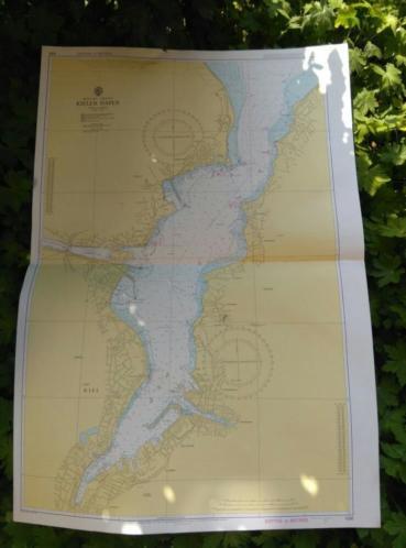 Oude Nautische Zeekaart Duitsland - Kieler Haven