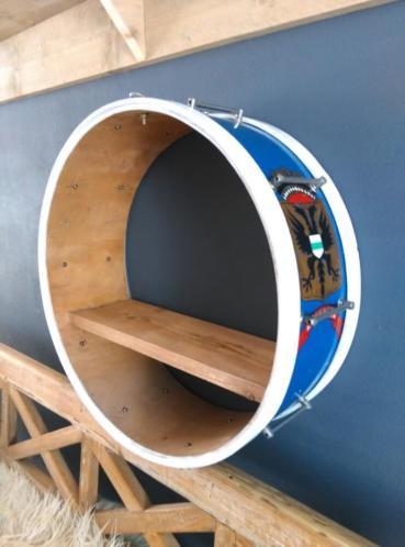 Oude Muziektrommel Trommel Drum Wandkastje GPH