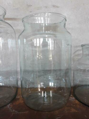 Oud Gerecyclede Bloemenvaas Glas Vaas Pickle Jars Maat L