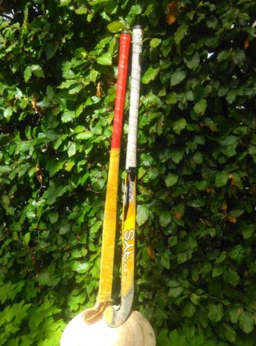 Oude Brocante Vintage Set Hoceysticks Hockey Stick