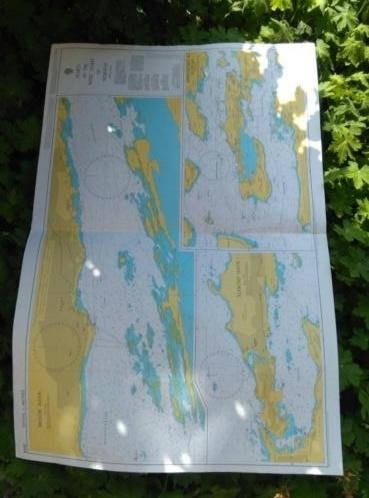 Oude Nautische Zeekaart Noorwegen - West Kust
