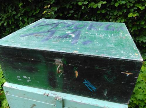 Houten Kist Koffer.Oude Brocante Houten Kist Koffer Groen Brocante Koffers