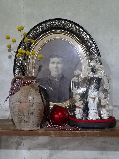 Oude Antieke Foto Portret Welgestelde Dame Portretfoto in Lijst