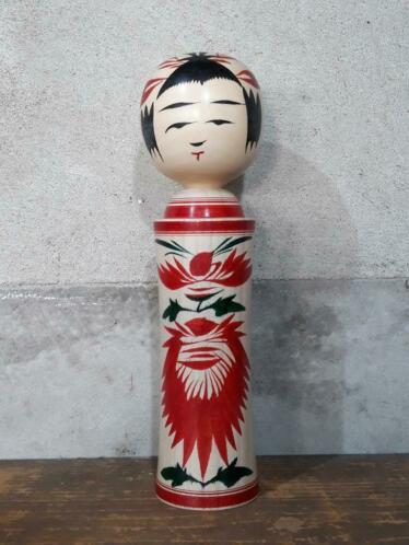 Oude Vintage Japanse Kokeshi Houten Pop Doll Naruko