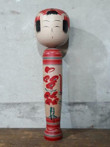 Oude Vintage Japanse Kokeshi Houten Pop Doll Toogatta
