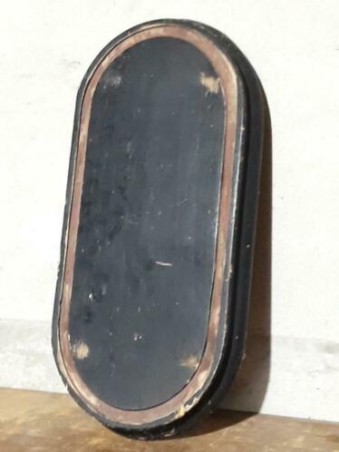Oud Antiek Brocante Stolpbord Stolp Bord Zwart