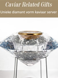 Diamond Perspex Caviar Server