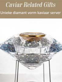 Diamond Perspex Caviar Server