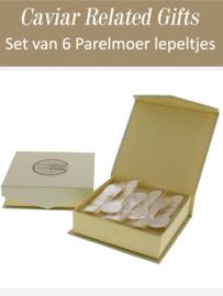 Mother of Pearl Spoon set van 6 stuks (petite - 7cm)