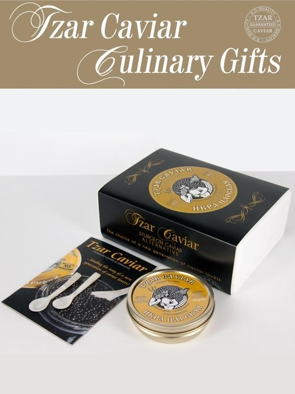 Culinary Gift 125 gr. Tzar Caviar met lepels & boekje
