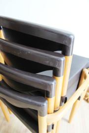 Set vintage stoelen van Casala. Retro design stoel Strax , 4 stuks
