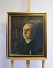 Portret van een heer, gesigneerd Jacques Zwijsen. Olieverf schilderij op doek in houten lijst.