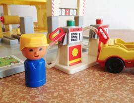 Toffe vintage garage van JEAN West Germany. Retro speelgoed, auto's/poppetjes