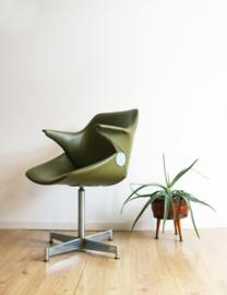 Groene vintage fauteuil, Geoffrey Harcourt- Artifort/Exquis? Retro design stoel