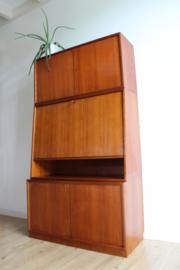 Vintage secretaire uit de jaren 60. Houten retro design kast / highboard
