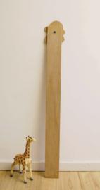 Vintage meetlat met de 7 dwergen van Sneeuwwitje. Houten retro groei-meter voor aan de muur.
