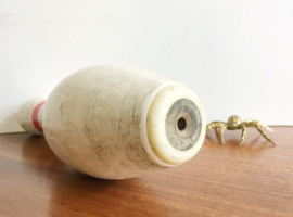 Amerikaanse vintage bowling pin. Originele retro kegel - Amflite II