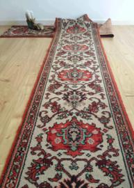 Lange Oosterse vintage loper. Tof Perzisch tapijt/ Boho kleed, 440 cm!