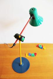 Veneta Lumi - vintage bureaulamp in Memphis stijl. Retro design lamp uit '90's