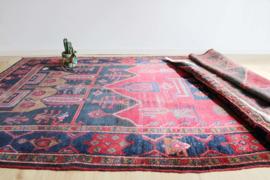 Groot vintage Oosters tapijt. Handgemaakt boho kleed, 163 x 322 cm.