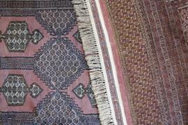 Groot handgeknoopt Oosters kleed. Wollen vintage Perzisch tapijt, Bouchara/Bokhara