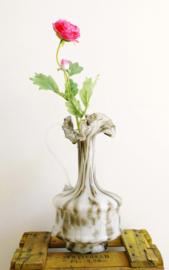 Prachtige vintage Murano vaas. Zwart/witte glazen karaf, Italiaans design
