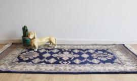 Vintage helaas-niet-vliegend Perzisch tapijt. Handgeknoopt Oosters bidkleed, Bochara/Bokhara