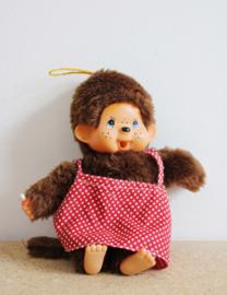 Kleine vintage knuffel aap. Retro Monchichi look-a-like aapje, 20 cm.