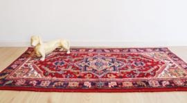 Kleurrijk handgeknoopt Oosters kleed, Heriz? Bohemien vintage tapijt
