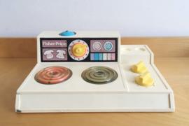 Vintage Fisher-Price keukentje #919. Origineel retro speelgoed - stove top/kookplaat