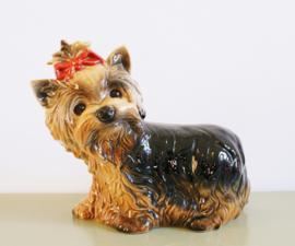 Schattig porseleinen Goebel hondje. Vintage Yorkshire Terrier beeldje.