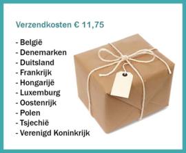 Verzendkosten klein pakket naar:  Denemarken, Duitsland, Finland, Frankrijk, Luxemburg, Oostenrijk, Tsjechië, Verenigd Koninkrijk