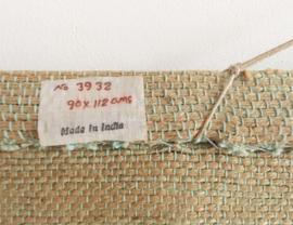 Handgemaakt vintage wandkleed met vogel. Unieke Boho wandversiering.