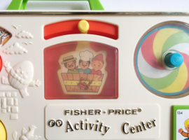 Vintage Activity Center van Fisher Price. Origineel retro baby speelgoed