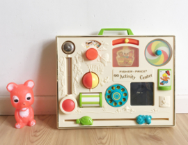 Vintage Activity Center van Fisher Price. Origineel retro baby speelgoed