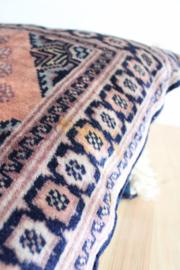 Set authentieke handgeknoopte Perzische kussens. 2 vintage Oosters/Bohemien kussentjes