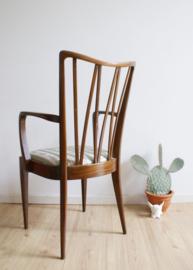 Prachtige houten stoel, A.A. Patijn voor Zijlstra Joure. Vintage stoeltje met armleuningen, Poly-Z.