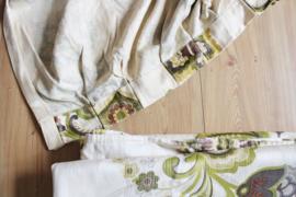3 blitse vintage gordijnen. Set gordijn stof met heerlijk retro jaren 70 print