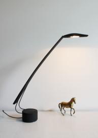 Zwarte retro design lamp, Dove -Barbaglia & Colombo. Vintage bureaulamp