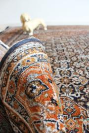 Handgeknoopt Oosters kleed met bloemen. Boho vintage tapijt - Bidjar?