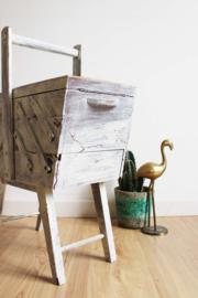 Houten vintage naaikist. Retro Sewing box / craft organizer /juwelen doos