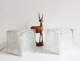 Set retro design lampen van IKEA. Glazen vintage lampen Ice Cubes