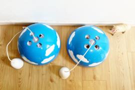 Blauwe retro wolken lampen. Toffe IKEA design cloud lampen- Skojig