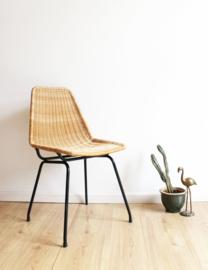 Vintage rotan stoel,  Dirk van Sliedregt voor Rohe.  Retro design stoeltje.