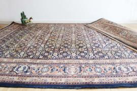 Handgeknoopt Indo Bidjar tapijt van wol. Oosters vintage vloerkleed.