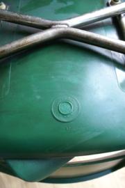 6 groene vintage stoelen. Blitse retro kantine stoelen, Design Philippus Potter