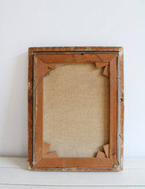 Origineel olieverf schilderij - Tilly Moes. Vintage bloemstilleven in houten barok lijst