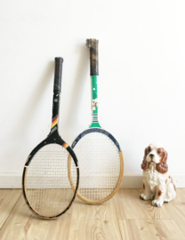 2 houten vintage tennisrackets. Set retro rackets van Kennex en Donnay