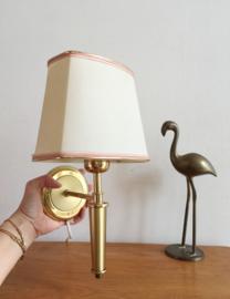 Vintage wandlampje met gouden details. Hollywood Regency stijl lampje.