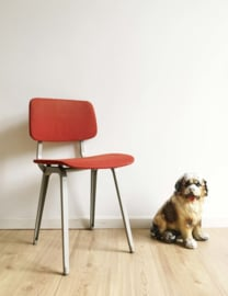 Industriële vintage schoolstoel, Revolt - Friso Kramer? Retro design stoel